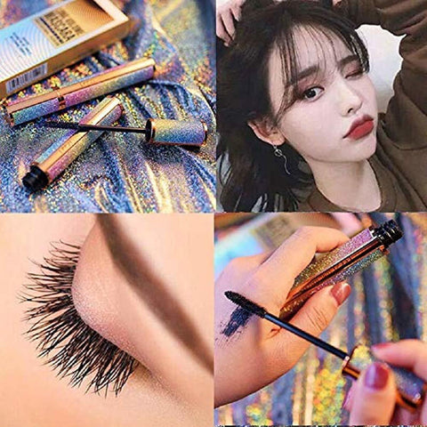 4D Silk Fiber Lash Mascara Black Waterproof (with Eyeliner Stamp) set - lyndaskitchen