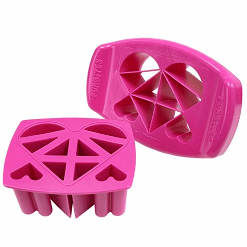 Shaped Food Cutter Set Green/Pink - lyndaskitchen