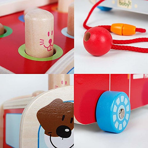 Wooden Pull Along Walking Bus - lyndaskitchen