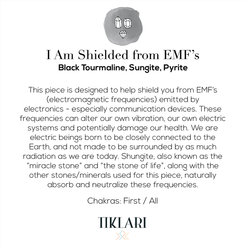 I Am Shielded From EMF's Mala Bracelet