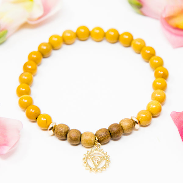 I am Strong + Safe: Third Chakra Diffuser Mala Bracelet