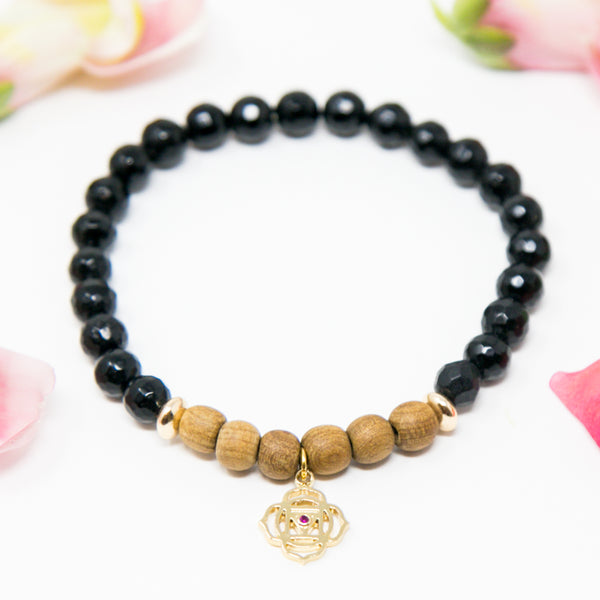 I am Grounded + Calm + Protected Diffuser Mala Bracelet