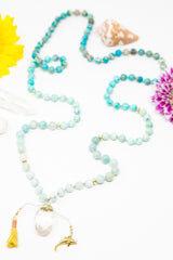 I am Joyful + at Peace Mala Necklace
