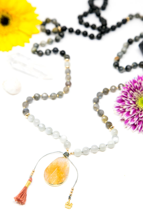 I Navigate Change with Joy Mala Necklace