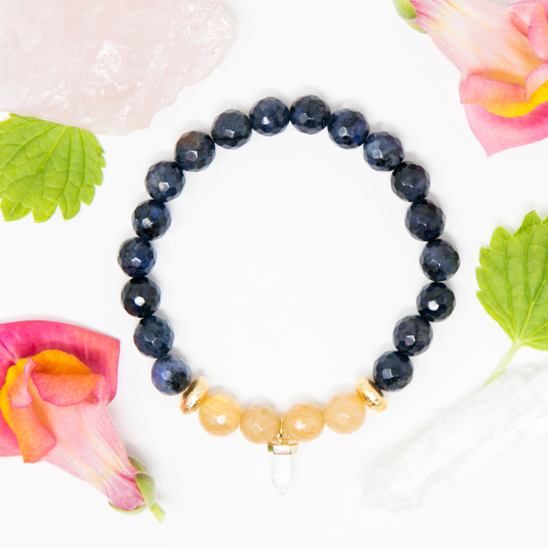 Courageous Tiny Crystal Mala Bracelet