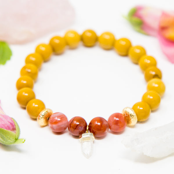 Strong + Vital Tiny Crystal Mala Bracelet