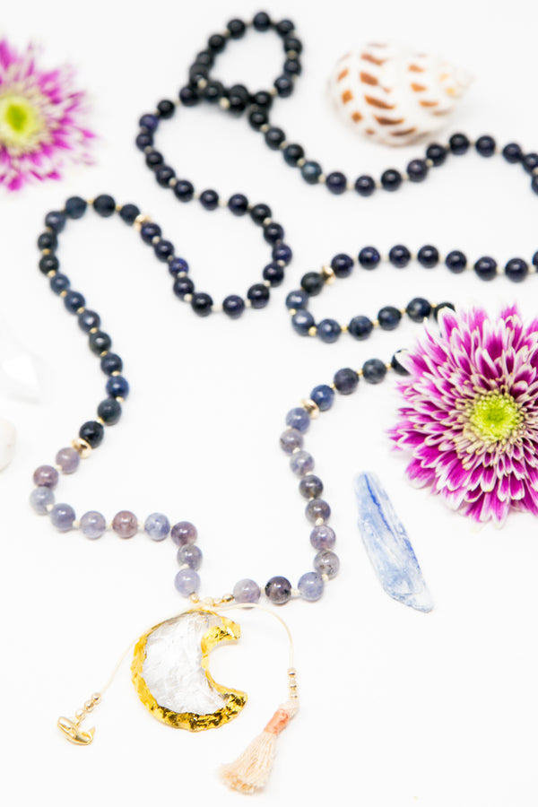 I am Wise + Intuitive Mala Necklace
