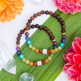 I am Happy! Mommy & Me Wood Diffuser Bracelet