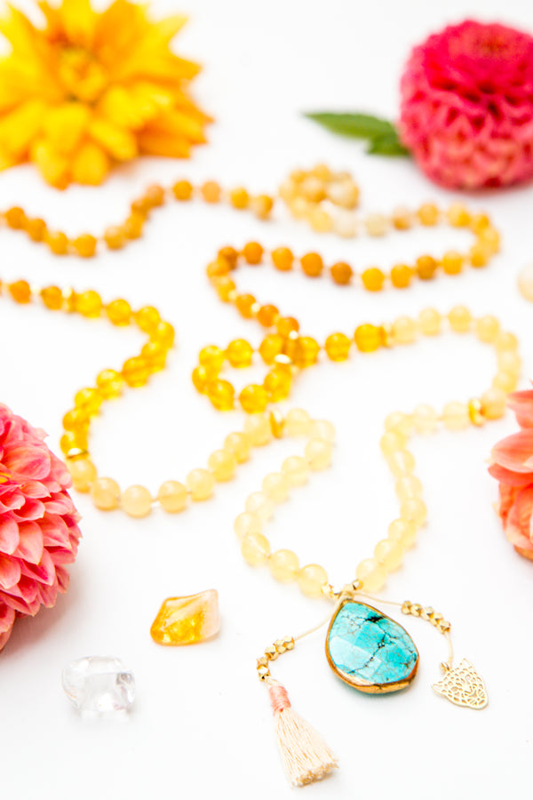 I Am Sunshine Mala Necklace