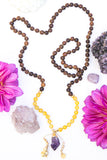 I Am Joyful Diffuser Mala Necklace