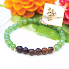 Kangaroo Green Apatite Diffuser Bracelet (for Australia fire donations)