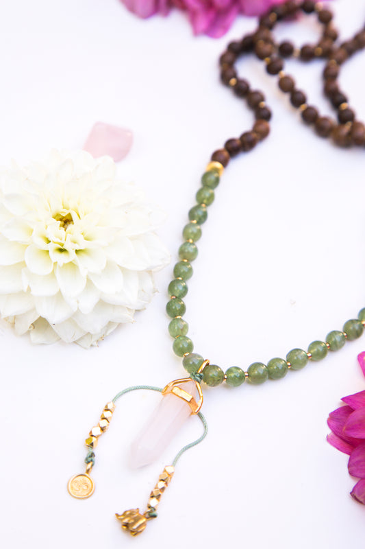 I Open My Heart Diffuser Mala Necklace