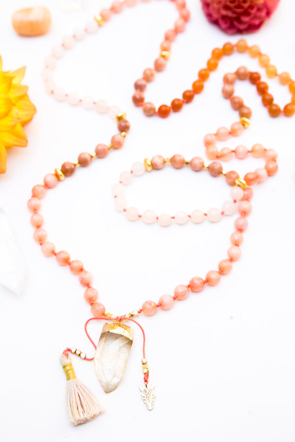 I Create The Life I Desire Mala Necklace
