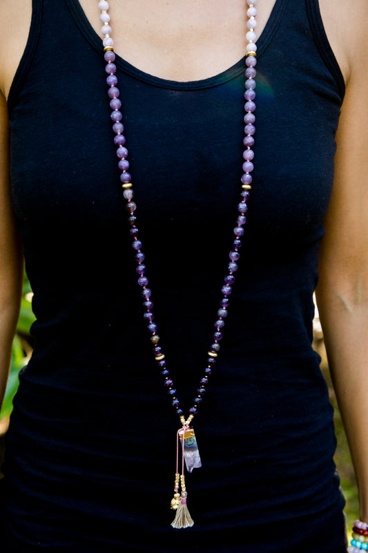 My Mind is Calm Mala Necklace
