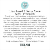 I Am Loved & Never Alone Diffuser Necklace