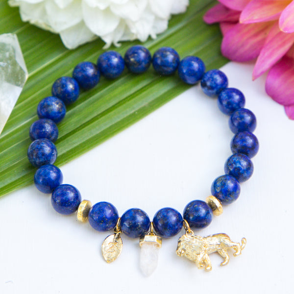 Truthful Lion Initial Bracelet