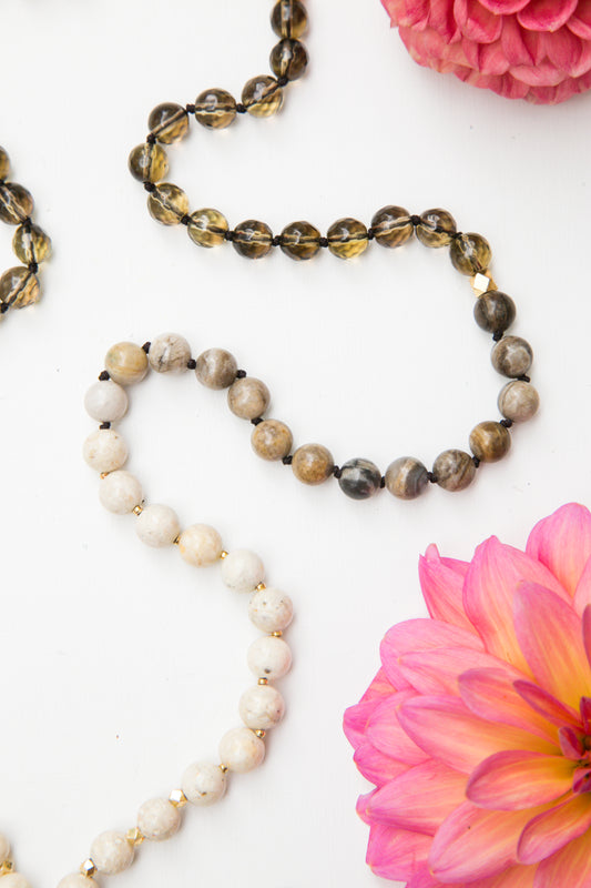 I Am Present and Balanced Mala Necklace