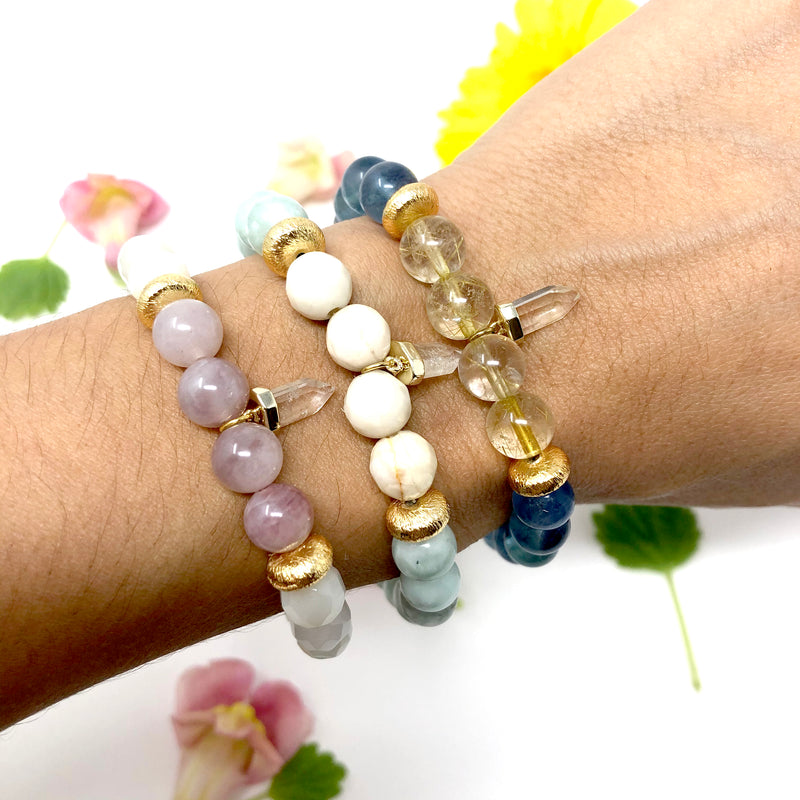 Trust the Flow Tiny Crystal Mala Bracelet