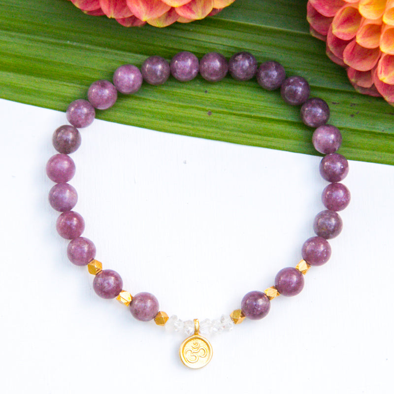 I am Peaceful OM Mala Bracelet