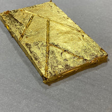 Load image into Gallery viewer, THE FULLY GOLD PLATED BAR - Five Leaf Signature Chocolate Bar - fully plated on 6 sides with layers of REAL 24K GOLD