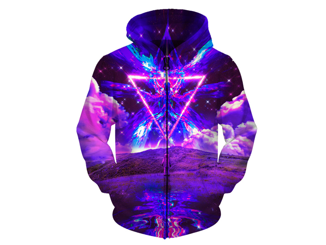 Purple World Zip Hoodie