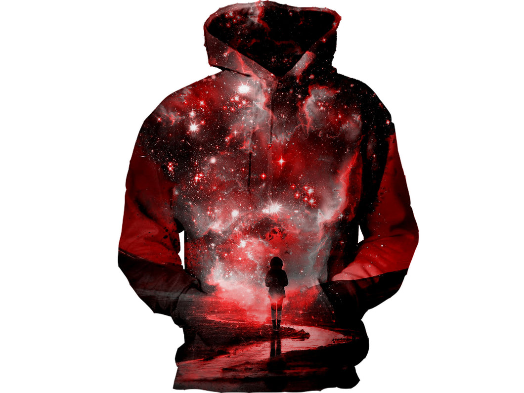 Red Galaxy Travel Hoodie