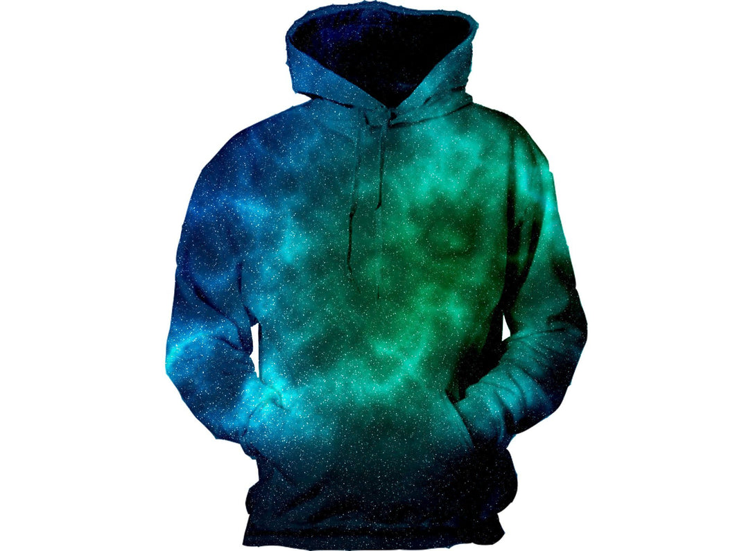 Green And Blue Galaxy Hoodie