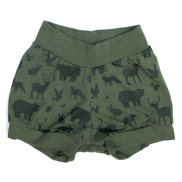 Bamboo Shorts - Olive Woodlands