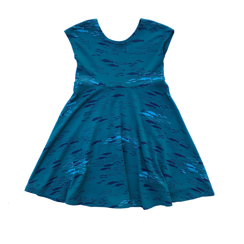 Teal Narwhal Dress