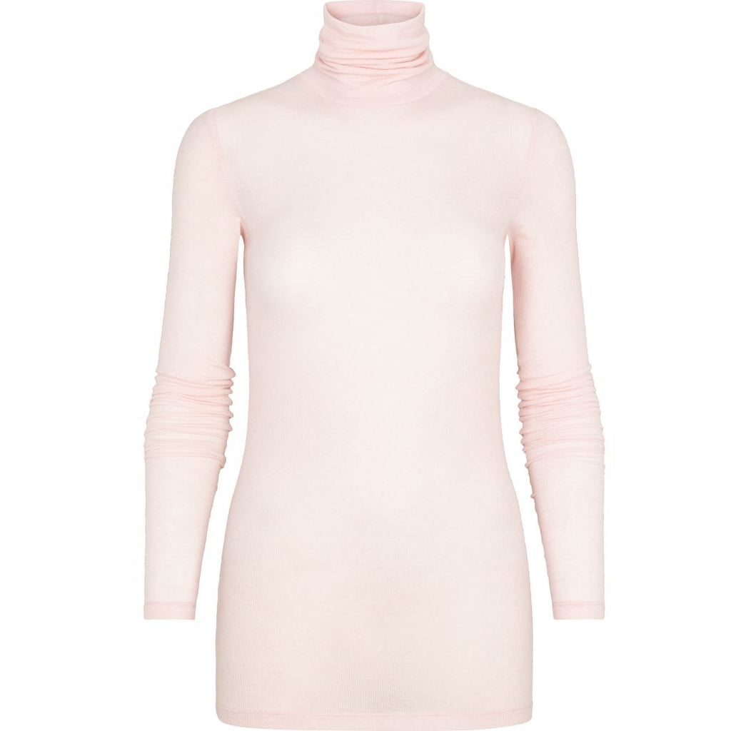 Bruuns Bazaar Women Angela Roll neck T-shirts Light Pink