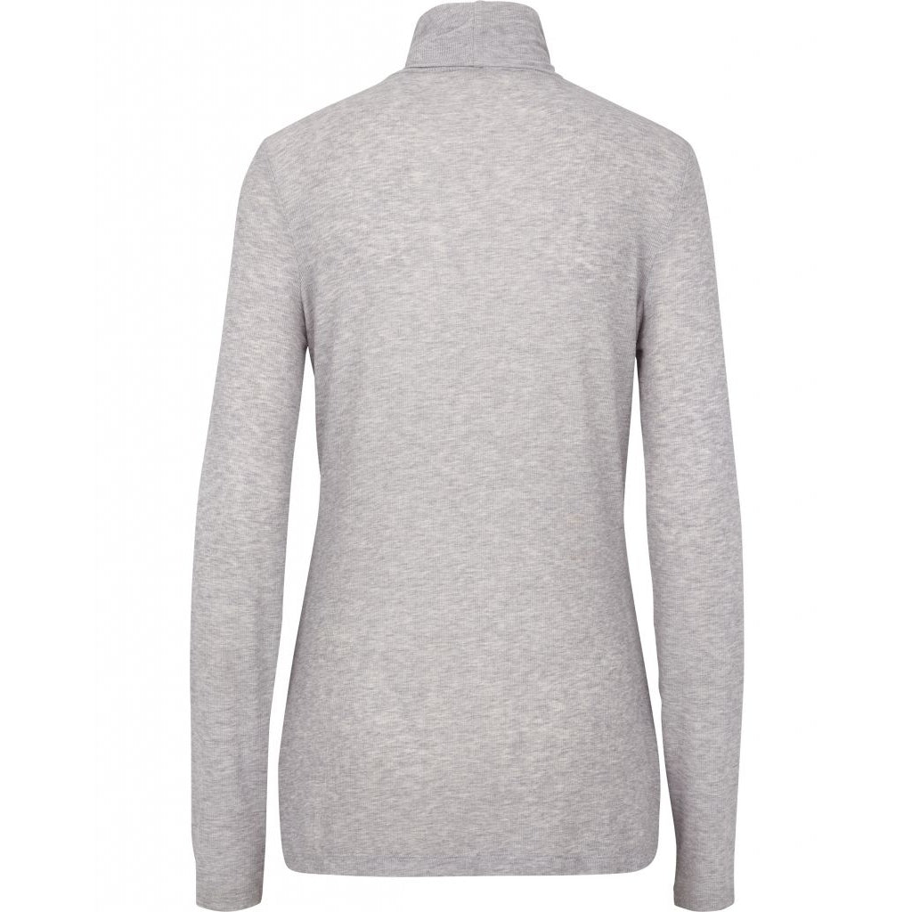 Bruuns Bazaar Women Angela Roll neck T-shirts Light grey mel