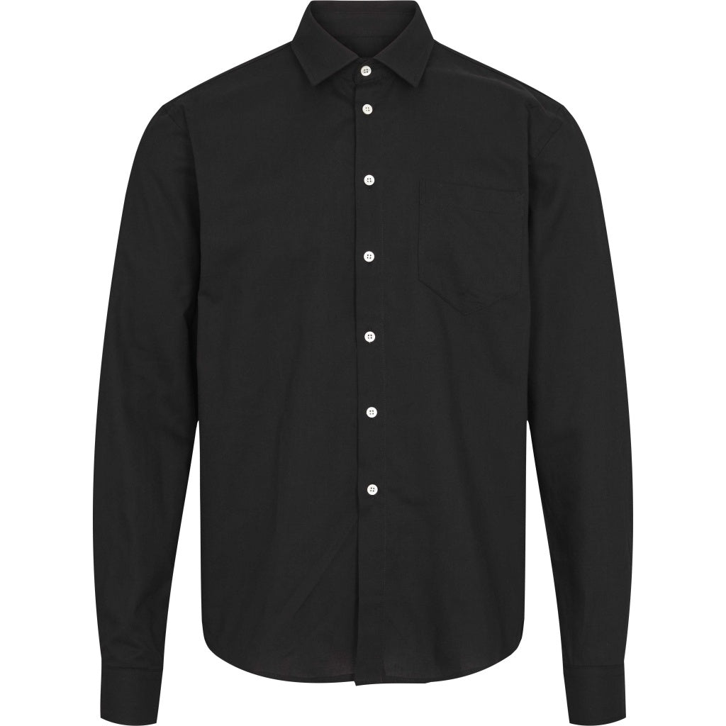 Bruuns Bazaar Men Anton Claus shirt Shirts Sort