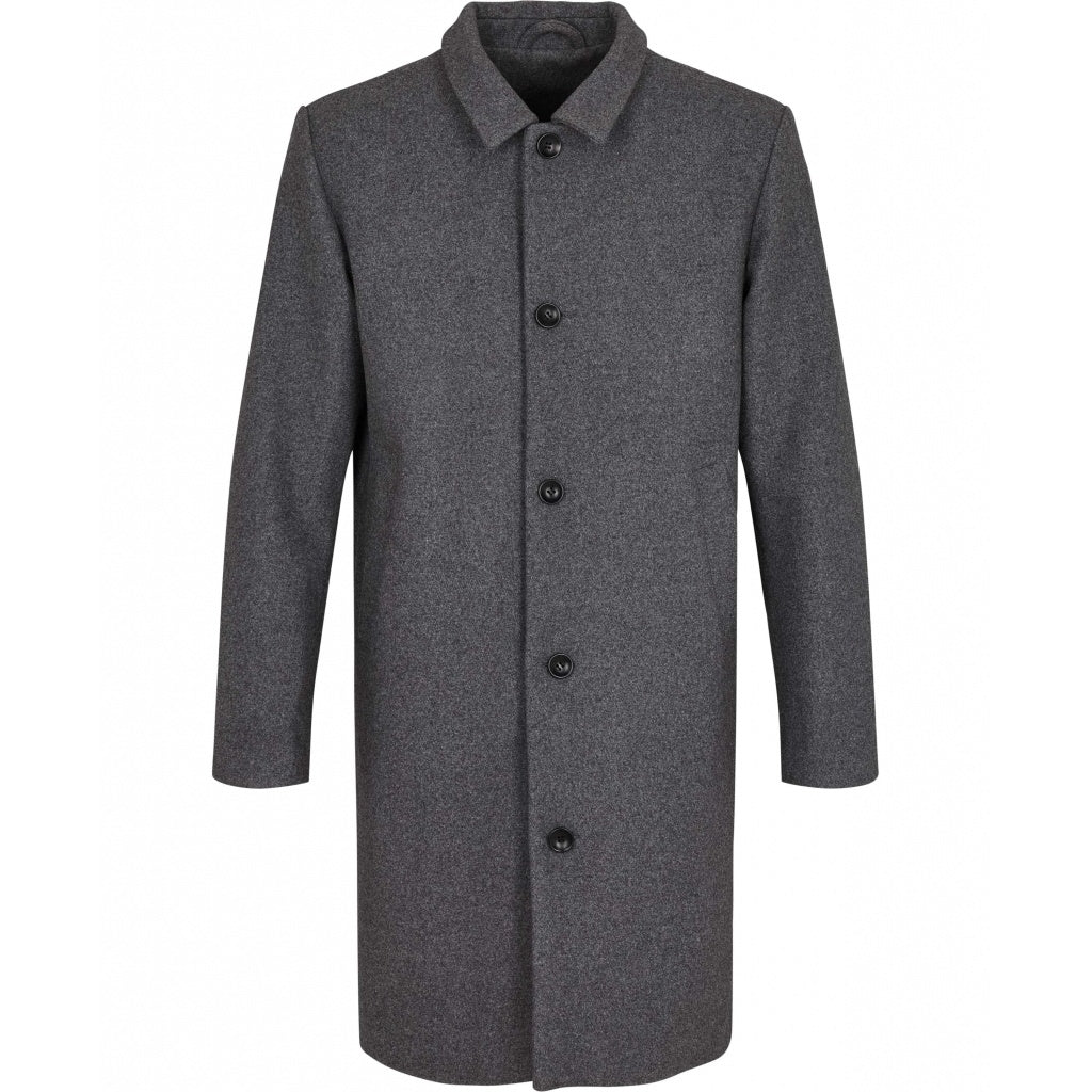 Bruuns Bazaar Men Aslan Mac frakke Jacket Grey mel
