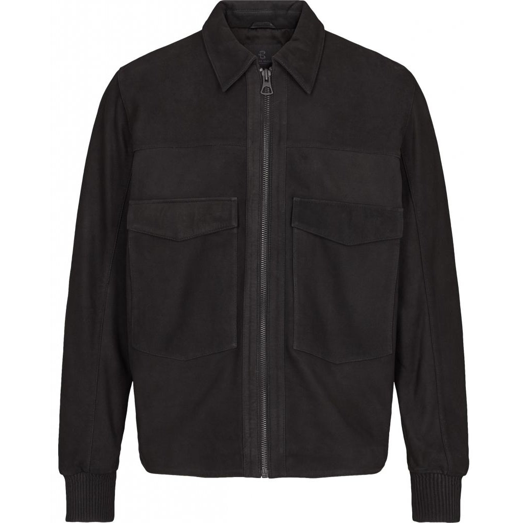 Bruuns Bazaar Men Ben Bomberjakke Jacket Sort