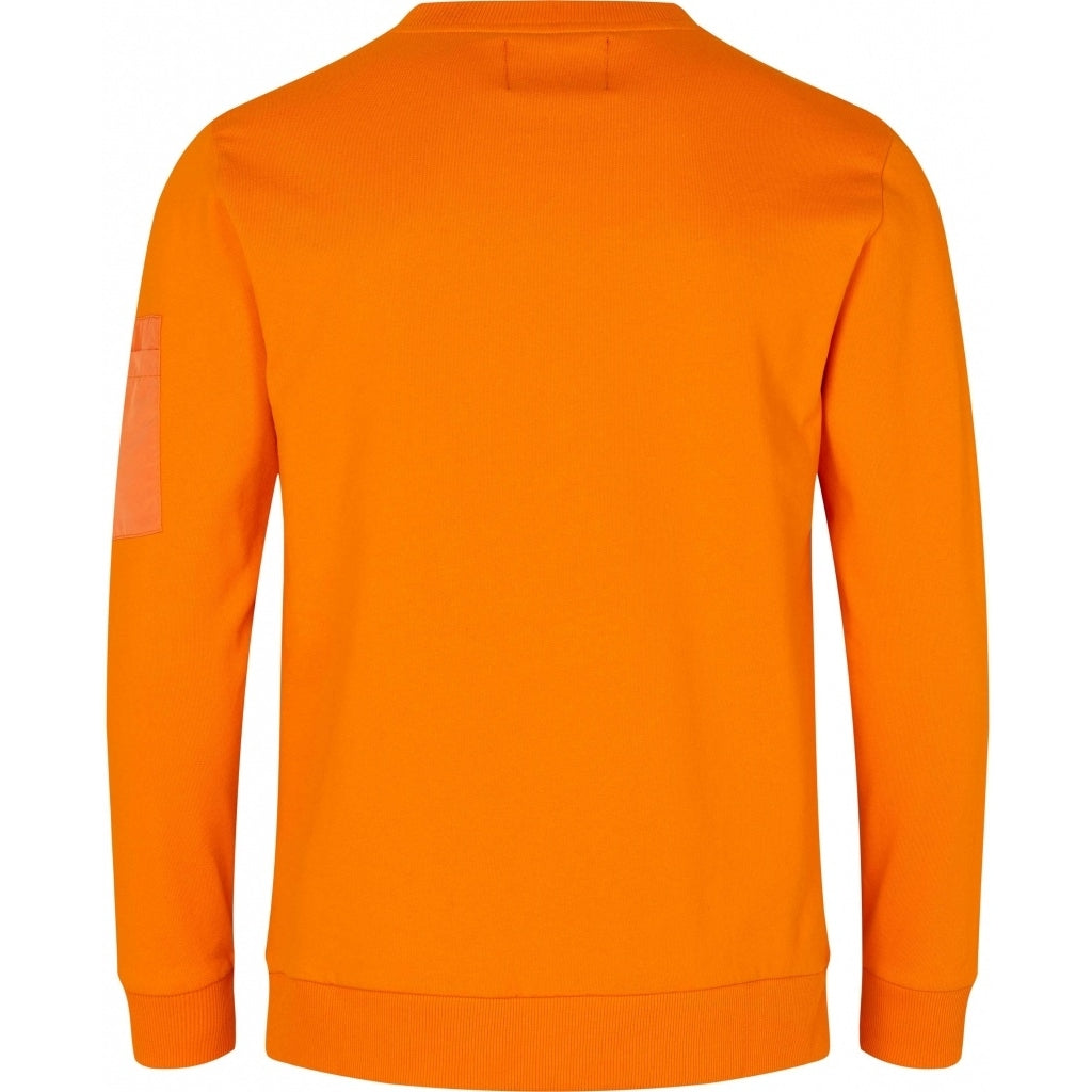 Bruuns Bazaar Men Birk Mash Sweat Sweatshirt Burned Orange