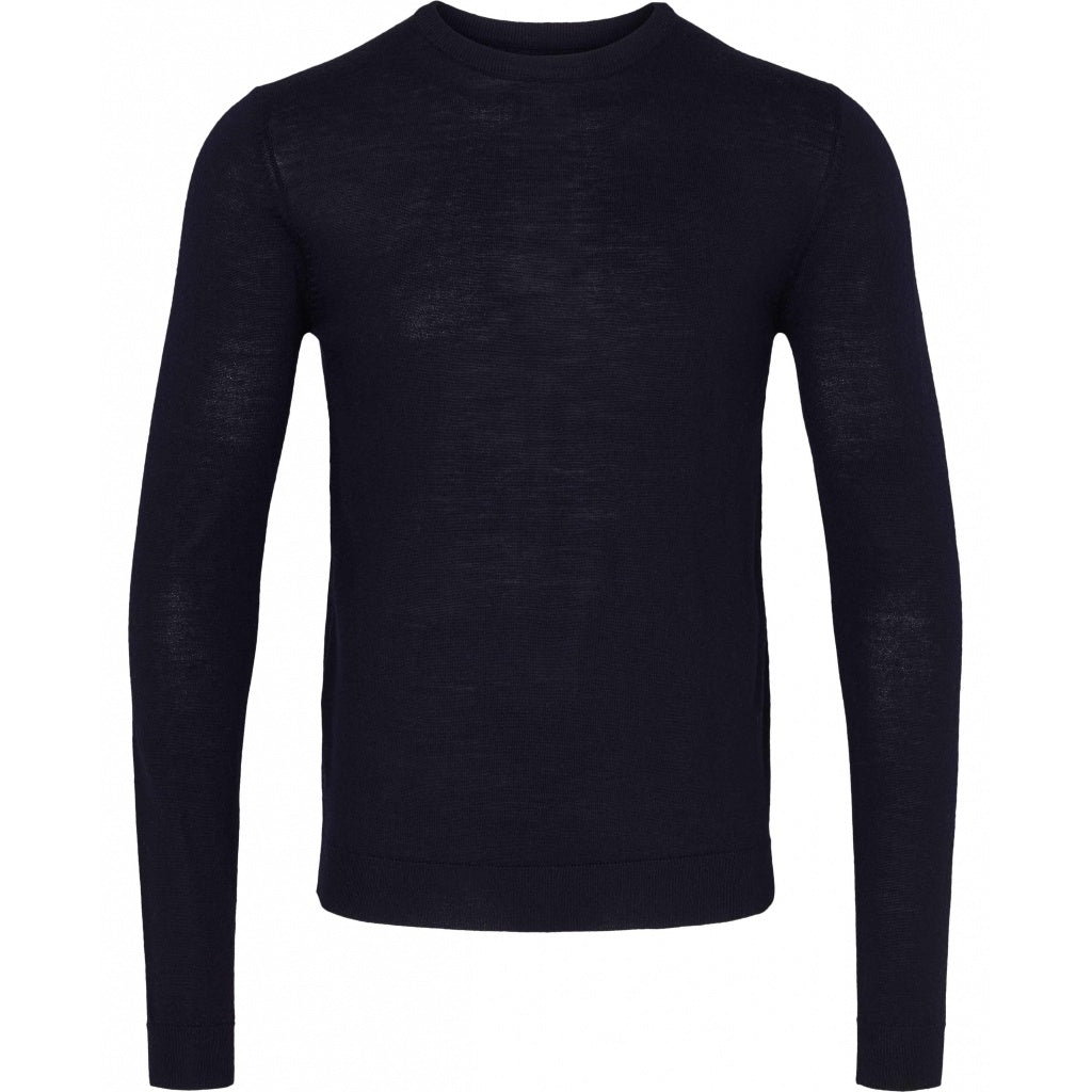 Bruuns Bazaar Men Charles Crew Neck Knit Dark Navy