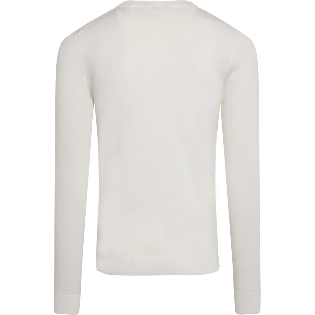 Bruuns Bazaar Men Charles Crew Neck Knit Snow White