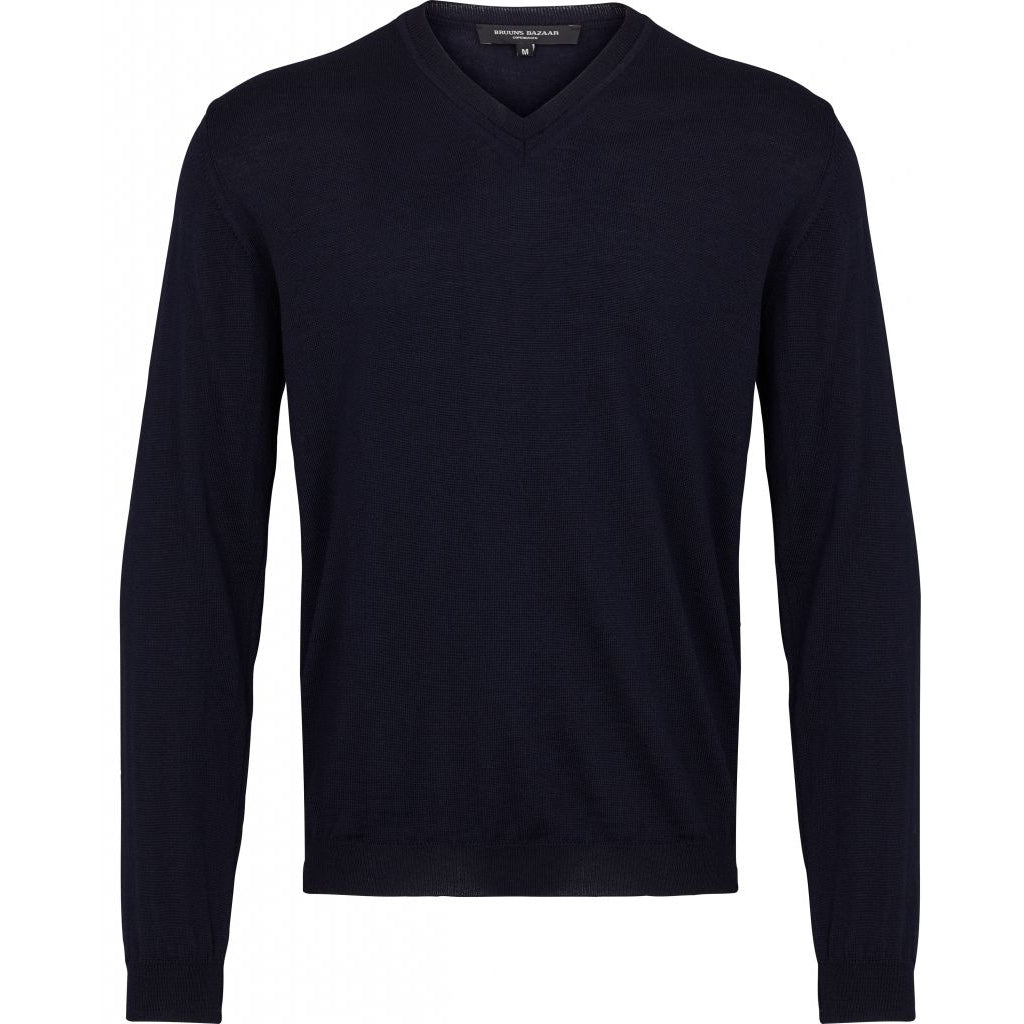 Bruuns Bazaar Men Charles V-neck Knit Navy