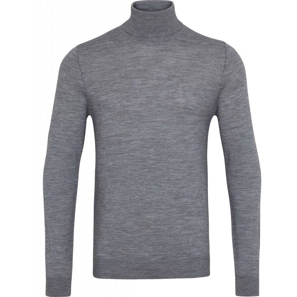 Bruuns Bazaar Men Charles roll neck Knit Mid grey mel