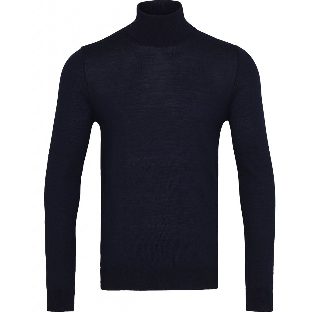 Bruuns Bazaar Men Charles roll neck Knit Navy