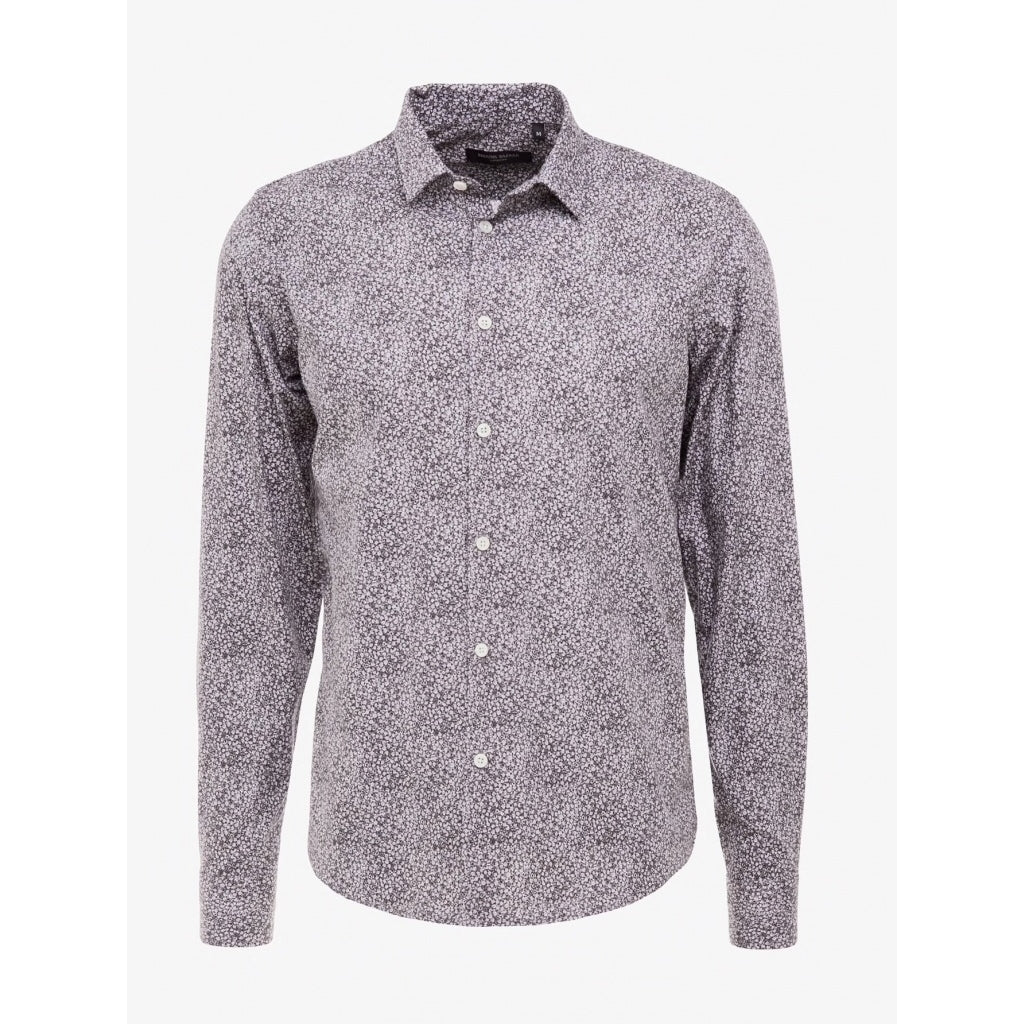 Bruuns Bazaar Men Elliot shirt Shirts Grey multi circle AOP