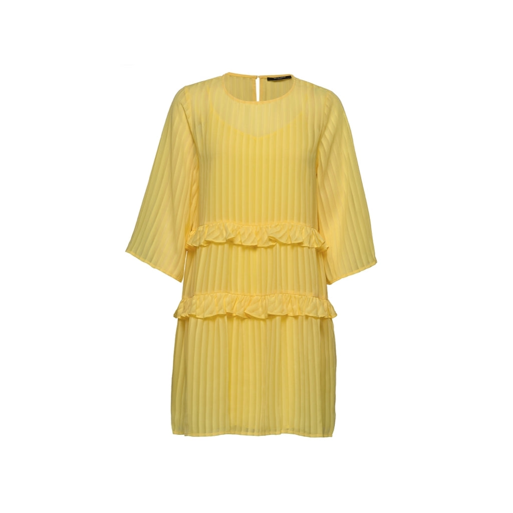 Bruuns Bazaar Women Ellora Kristelle dress BZ Dress Lemon drop