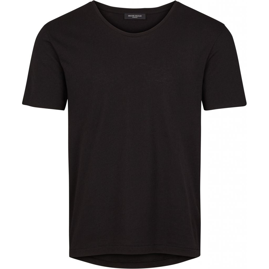 Bruuns Bazaar Men Erik tee T-shirts Black