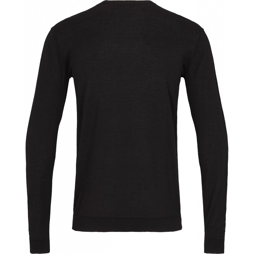 Bruuns Bazaar Men Gerhard o-neck LS Knit Black