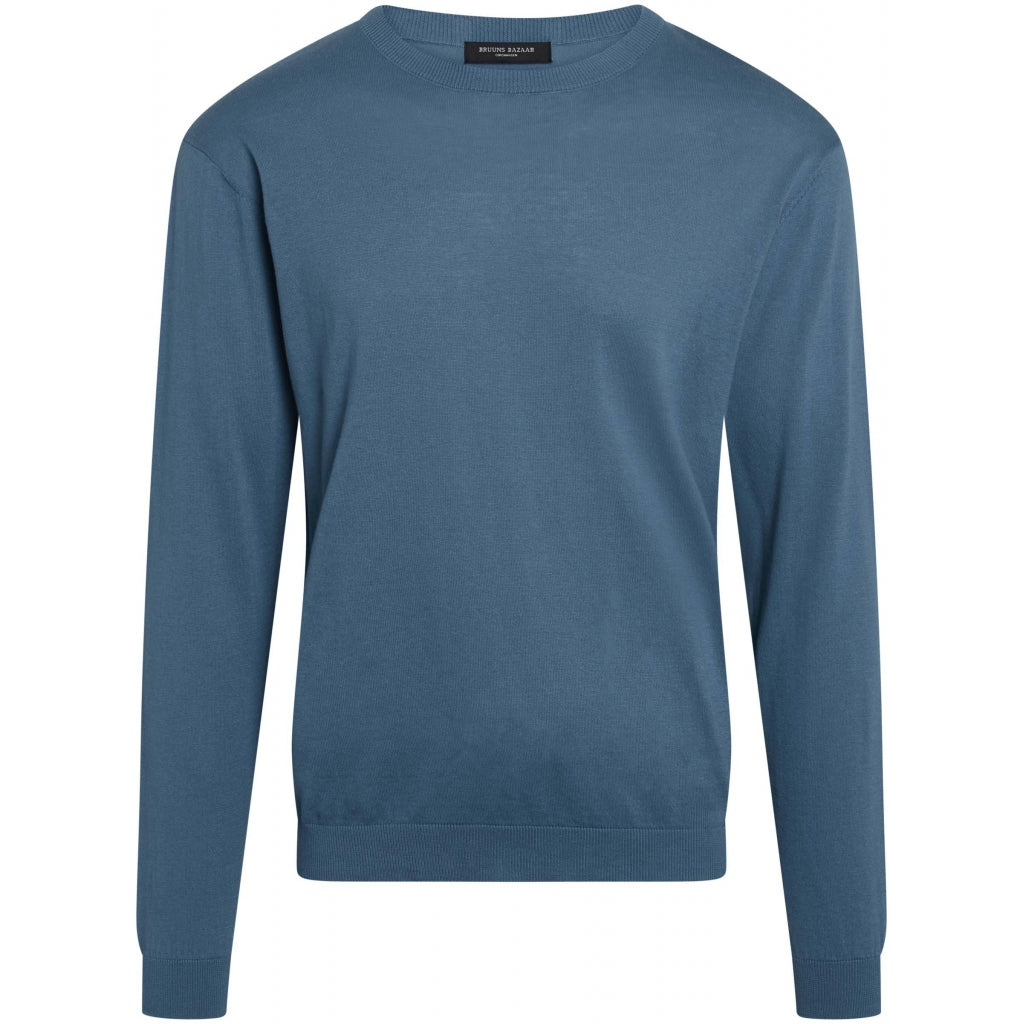 Bruuns Bazaar Men Gerhard o-neck LS Knit Flint
