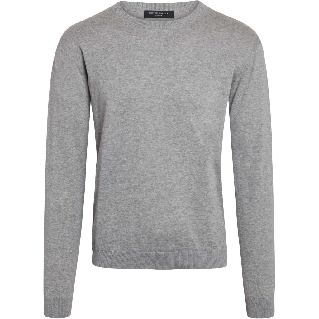 Bruuns Bazaar Men Gerhard o-neck LS Knit Grey mel