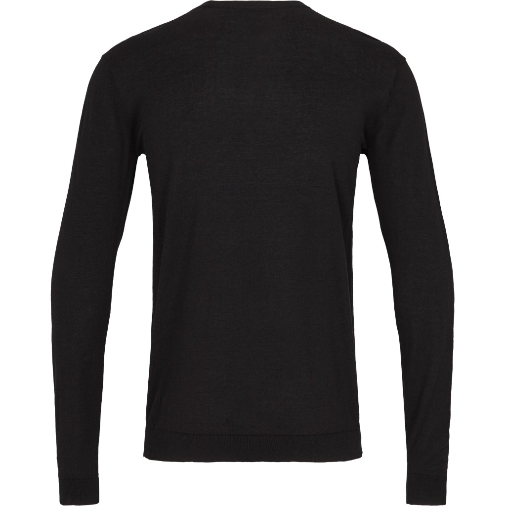 Bruuns Bazaar Men Gerhard o-neck LS Knit Sort