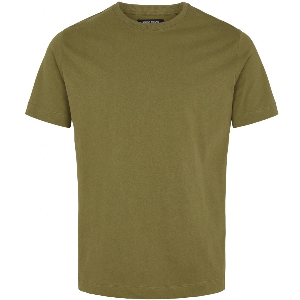 Bruuns Bazaar Men Gustav T-shirt T-shirts Burned Olive