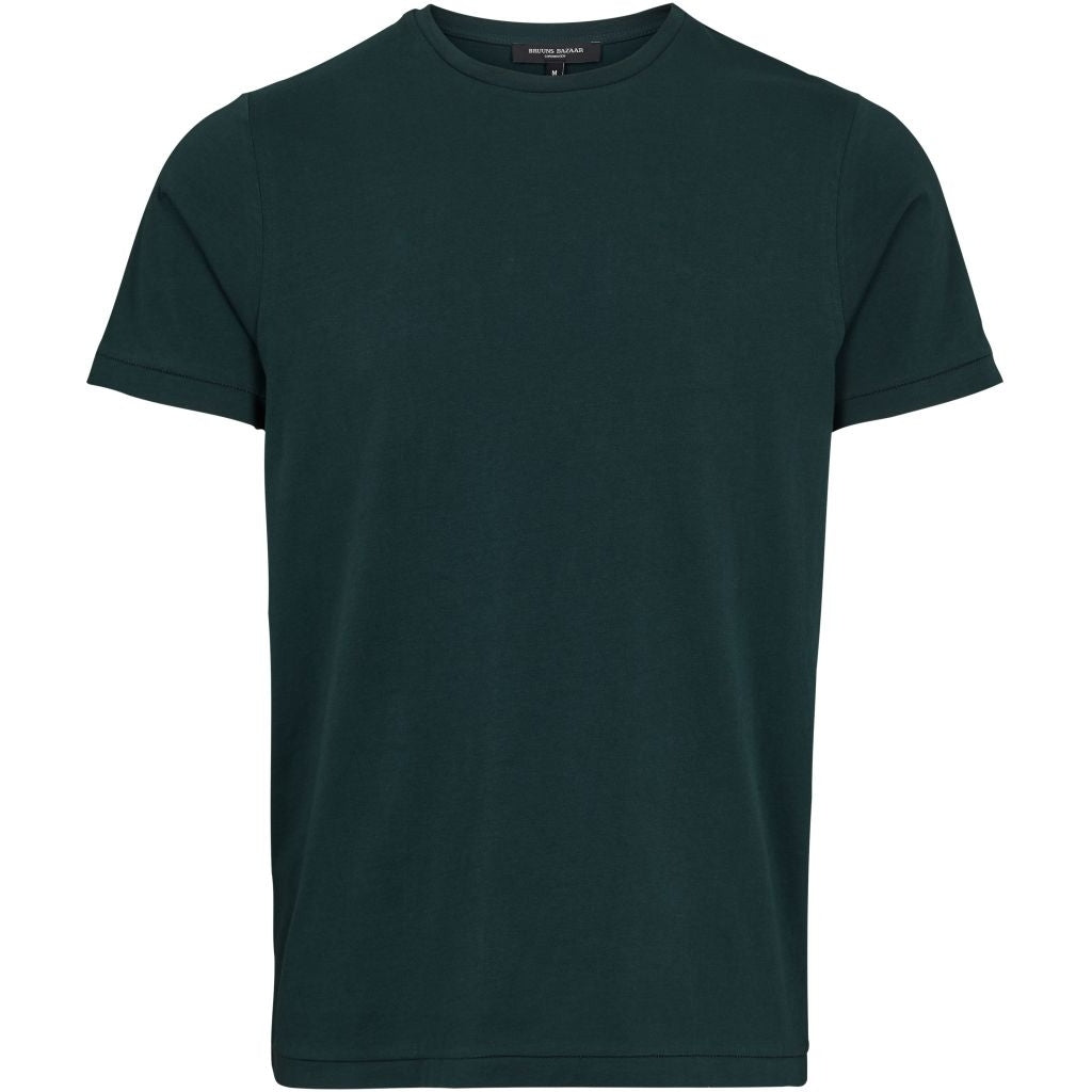 Bruuns Bazaar Men Gustav T-shirt T-shirts Men Bottle Green