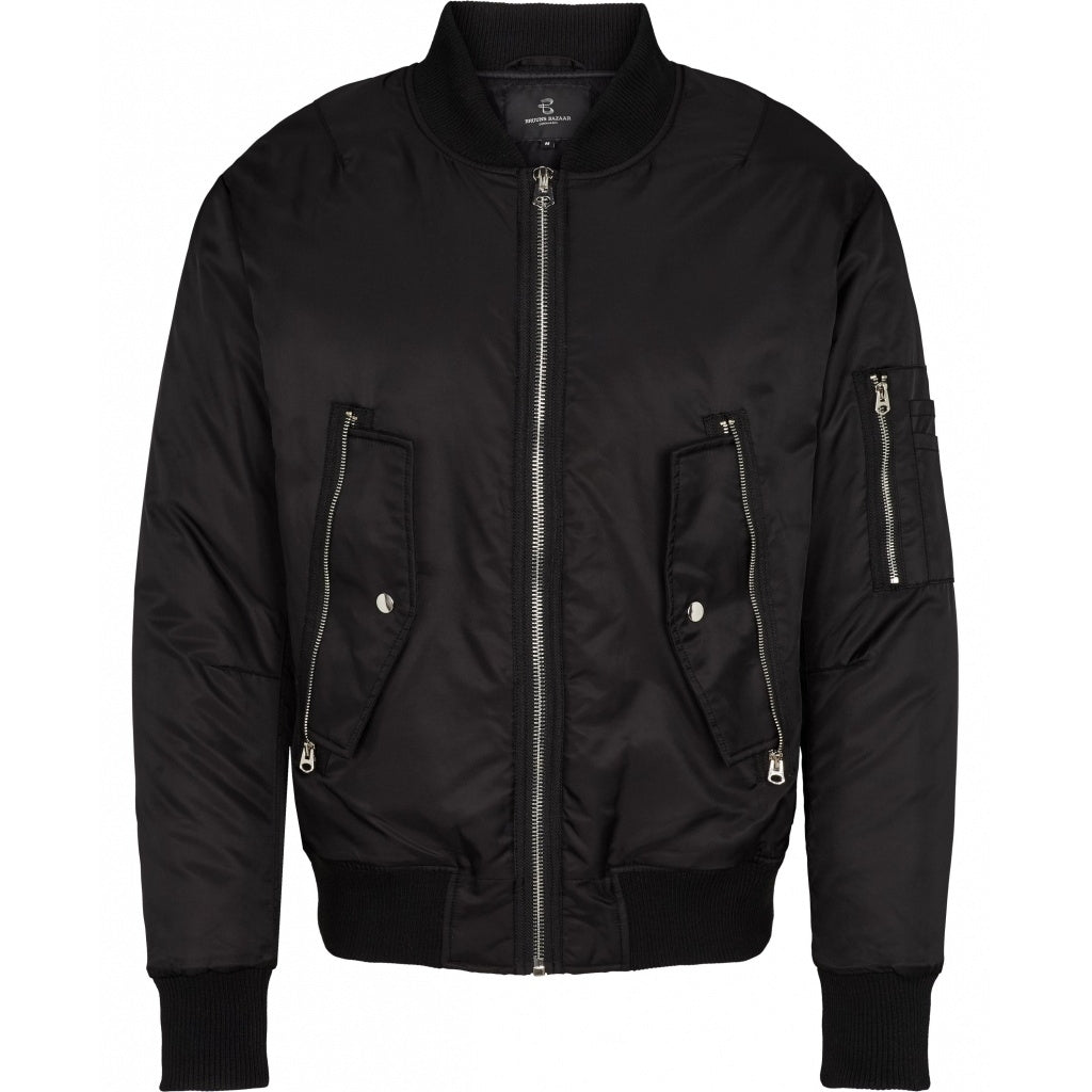 Bruuns Bazaar Men Hero bomber Bomber Black